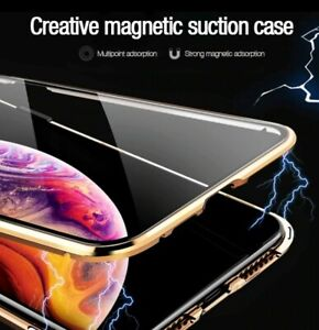 Magnetic Anti-peep Phone Case Double Side for i Phone 11 Pro 8 Plus X XS XR Max