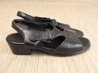 SAS Tripad Comfort Black Leather Shoes Women's Size US 8 M Heels Casual Sandals