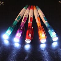 5x LED-Kugelschreiber Licht Schriftsteller Matt mit LED Blauschreibend Zufällig