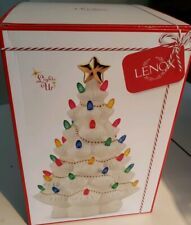 Lenox 867360 Treasured Traditions Ivory Lighted Tree Figurine Centerpiece New