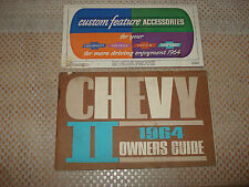 1964 CHEVY II OWNERS MANUAL SET ORIGINAL RARE GLOVEBOX BOOKS
