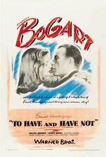 TO HAVE AND HAVE NOT Movie POSTER 27x40 B Humphrey Bogart Lauren Bacall Walter