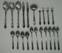 20pc Korea Rogers Co Stainless Dream Rose 117-9A