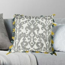Indian Decorative Cotton Geometric Kantha Cushion Cover With Tassel Pillowcase