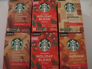 Starbucks Holiday Blend, cinnamon dolce, toffeenut, graham, K-Cup Pods 72 Count