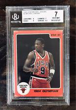 1986 STAR Michael JORDAN 1984 Olympian BGS 7 RC #3 Bulls Rookie PSA