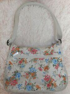 Vintage Le SportSac Purse Bag Crossbody Floral Flowers USA Le Sport Sac 0702