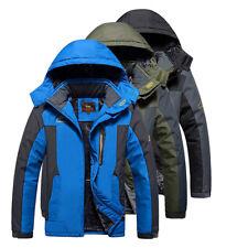 Mens Mountain Jackets Waterproof Winter Coat Hooded Warm Hiking Working Jacket