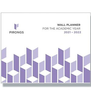 Pirongs Wall Chart 2021-2022 Academic Year Planner 960 x 406mm Double Sided
