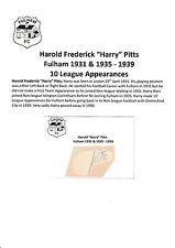 Harry Pitts Fulham 1931 & 1935-1939 Raro Original Corte/tarjeta firmada a mano