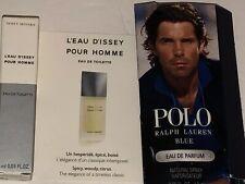 Ralph Lauren Polo Blue for Men EDP Sample 0.05oz & 0.03 L'eau D'issey Pour Homme