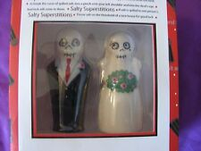 DAY OF HE DEAD/SUGAR SKULL BRIDE&GROOM salt &pepper shakers (NIB)