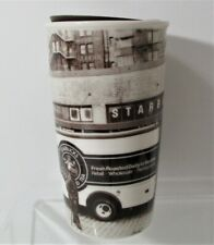 Pike Place Seattle THE FIRST STARBUCKS COFFEE STORE Ceramic Travel TUMBLER 2016
