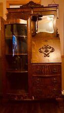 antique oak side by side secretary desk