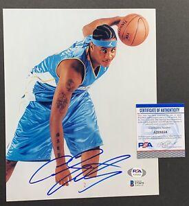 Carmelo Anthony Melo Signed 8 By 10 Photo Knicks Beckett Coa PSA