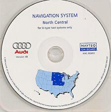 01 02 AUDI A4 A6 A8 QUATTRO NAVIGATION MAP CD 3 NORTH CENTRAL MN ND SD NE KS MO