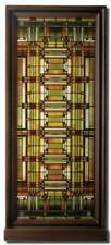 Frank Lloyd Wright OAK PARK HOME STUDIO SKYLIGHT Stained Art Glass Panel Display