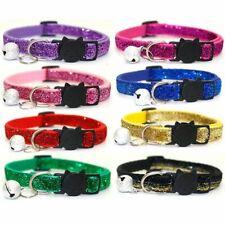 Sequins Quick Release Cat Collar Bell Safety Breakaway Pet Adjustable Neck Strap