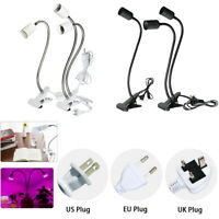 E27 LED Clamp/Clip-on Desk Light Work Table Lamp Holder Flexible Neck (12 Sizes)