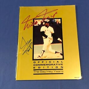 Willie Mays HAND SIGNED 1983 Official Commemorative Edition Magazine