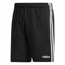 Adidas Hombre Essentials 3-Streifen Pantalón Corto Negro Blanco