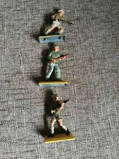 Vintage Britains Deetail Toy Soldiers. Ww2 X3