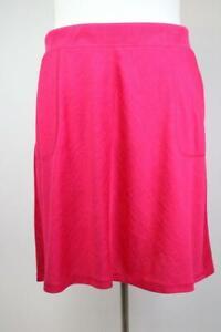 NEW TALBOTS Hot Pink KNIT KNEE LENGTH SKIRT Pockets Stretch Modern PLUS 2X