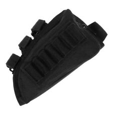 Cs Tactical Rifle Butt Stock Cheek Rest Shell Ammo Pouch Right Hand Nylon