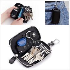 Genuine Cow Leather Car Key Bag Wallet Key Case Housekeeper Holders 6 Key Rings