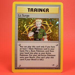 Pokemon TCG English Card Gym Heroes Leader Lt. Surge 17/132 Holo Rare