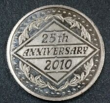 25th Anniversary 2010 Art Medal .999 Silver Round - 1 oz Troy bullion - Gift