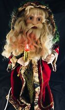 """Telco E-Z Decor Animated Large Christmas Santa W /Lighted Motion Candle Head 24"""""""