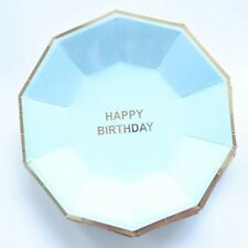 Party :  Paper Plate Happy Birthday Gold Stamping Party Needs 10 pcs