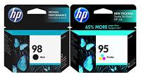 GENUINE NEW HP 98 95  (C9364WN/C8766WN) Black Color Ink Cartridge 2-Pack