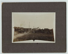 RARE Lot - 2 Photos - Railroad Train Disaster - Brookings SD 1890s South Dakota