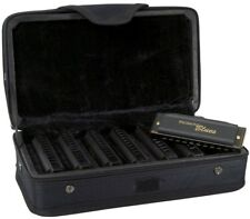 Honer Piedmont Blues Set, Harmonica Harp Light Wind Instrument Matte Black New