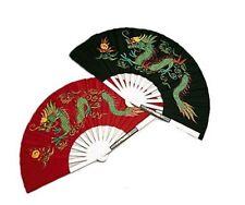 Metal Dragon Fighting Fan Steel Martial Arts Weapon Tai Chi Kung Fu Ninja