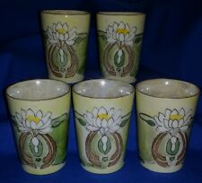 Jaeger & Co. Bavaria Lot 6 Juice Glasses/Cups Lustre Water Lily ~ Lotus Blossom