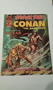 Savage tales # 5 ,kazar ,neal adams cover