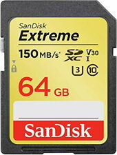 SanDisk Extreme 64 GB SDXC Memory Card, Up to 150 MB/s, Class 10, U3, V30