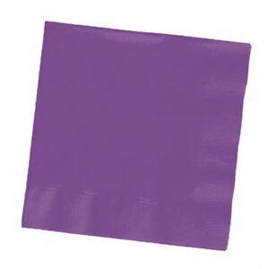 Purple Beverage Napkins (50) - Party Supplies