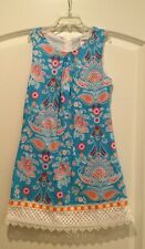 Counting Daisies sleeveless paisley & floral dress with lace size 10