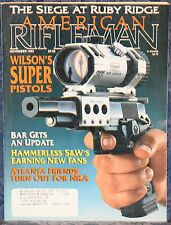 "Magazine American Rifleman, NOVEMBER 1993 SMITH & WESSON ""Hammerless"" REVOLVERS"