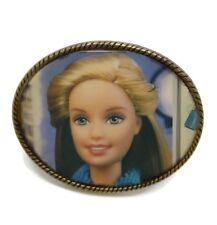 """Vintage Barbie Mens Unisex Belt Buckle '90s Era Barbie Made In Spain 3 3/4"""" x 3"""""""