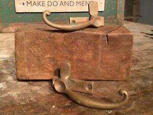 X1 Large Antique Brass Window Lock, Latch, Fastener. Handle. Vintage Hardware