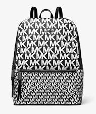 Michael Kors Backpack Bag Toby Md Backpack Black/White New