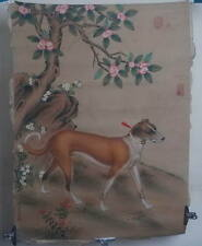 Qing dynasty style Chinese painting: Hand painted Draw Dog! 14042861