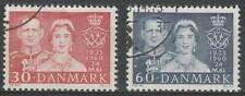 Denemarken gestempeld 1960 used 381-382 - Zilveren Huwelijk