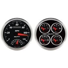 "Auto Meter 1204 2 Pc. Gauge Kit 5"" Quad & Tach/Speedo Combo Designer Black Ii"