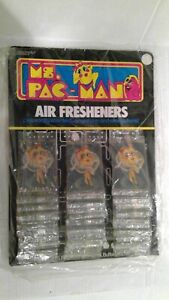 (36) MS. PAC-MAN AIR FRESHENERS NEW STORE COUNTER DISPLAY PACKAGES Vintage 1981